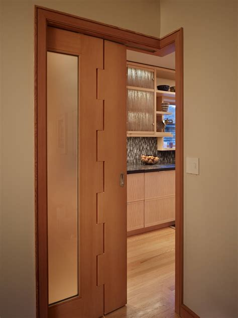 sliding interior doors completing modern interior with