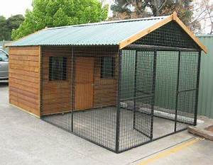 Custom dog pen general dog discussion dogz online forums for Dog run cage enclosure
