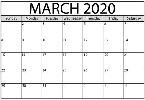 march  calendar calendar template calendar word