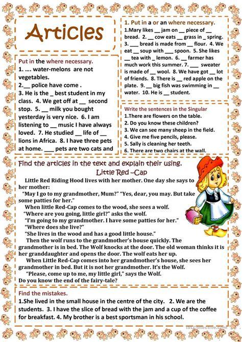 articles worksheet free esl printable worksheets made by
