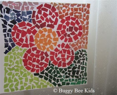 buggy bee kids crafts  kids  singapore mosaic flower