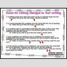 Rules For Editing Dialogue Freebie!!  Grammar Pinterest