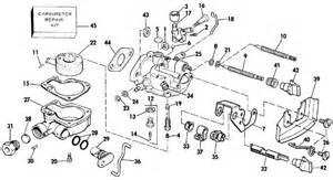 Johnson Carburetor Parts For 1989 3hp J3brcec Outboard Motor