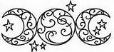 Crone Maiden Mother Tattoo Goddess Bing Triple Moon Maidens sketch template
