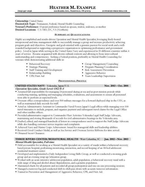 usa resume cover letter sle templates usajobs the