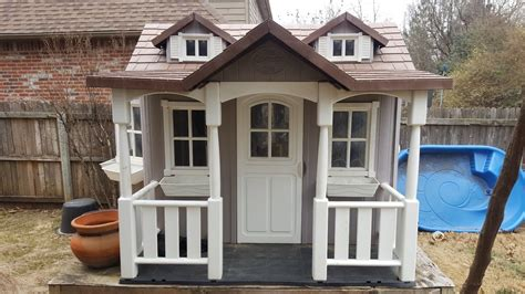 Backyard Cottage Playhouse - playhouse backyard cottage thinking outside