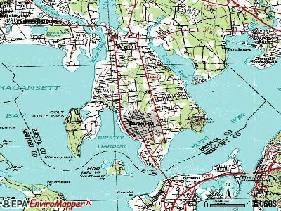 bristol rhode island ri  profile population maps