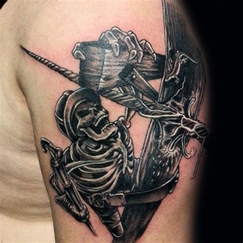 electrician tattoos 50 lineman tattoos for men electrical design ideas