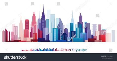 vector design eps10 colorful building and city urban