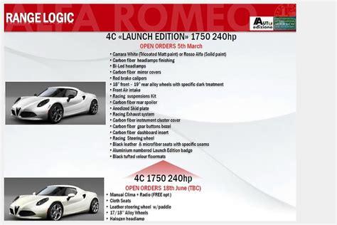 Alfa Romeo 4c Specs by Alfa Romeo 4c Specs Revealed By Leaked Brochure