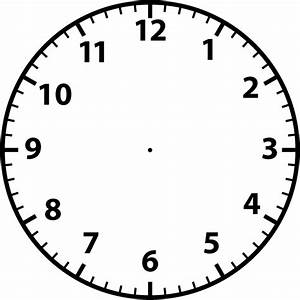 printable blank clock face clipart best With clock face templates for printing