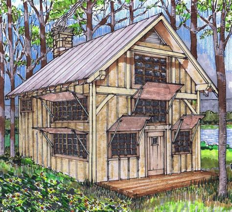 20x24 Timber Frame Plan with Loft Timber frame cabin