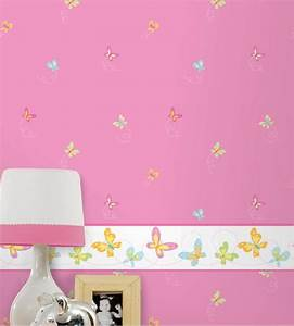 Tapeten Bordüre Kinderzimmer : hoopla tapeten bord re schmetterlinge rosa dlb07525 ~ Eleganceandgraceweddings.com Haus und Dekorationen