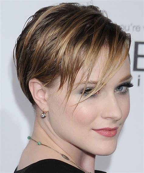 Evan Rachel Wood Short Straight Light Caramel Brunette