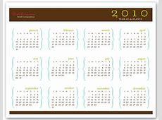 2010 Printable Calendar Parenthesis Design HQ PDF s3