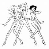 Coloring Spy Spies Totally Pages Barbie Christmas Printable Sheets Colorings Characters Incredible Totallyspies Popular Ecoloring Tv sketch template
