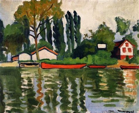 Poplars at Villennes - Albert Marquet Paintings