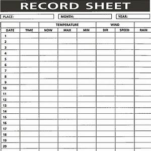 Rain Gauge Chart Metcheck N3 Weather Record Pad