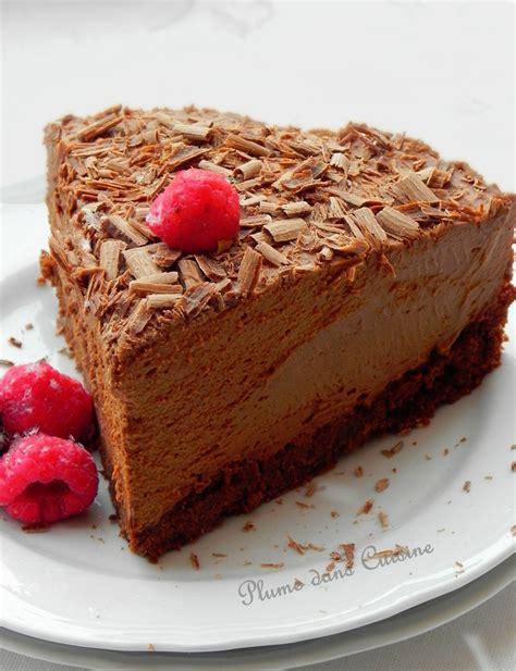 cuisine chocolat gâteau mousse au chocolat tout à fait exquis une plume