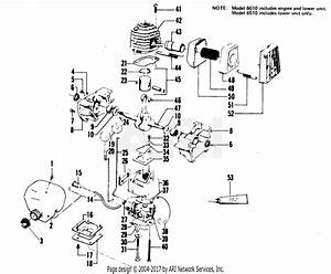 Poulan 6010 Gas Trimmer Parts Diagram For Engine Block