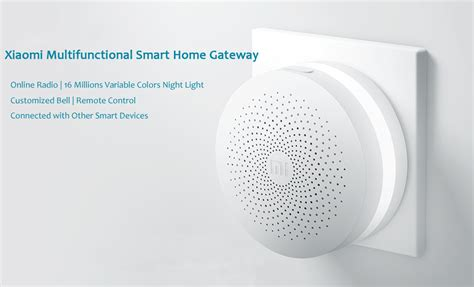 mi smart home multi function gateway alarm system upgraded
