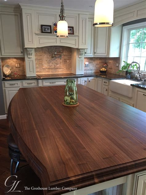 countertops for kitchen islands custom walnut kitchen island countertop in columbia maryland