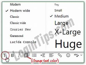 How To Compose A Professional Email Change Default Font Size Text Settings In Yahoo Mail