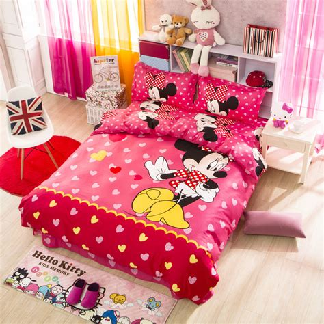 popular minnie mouse twin bedding set buy cheap minnie