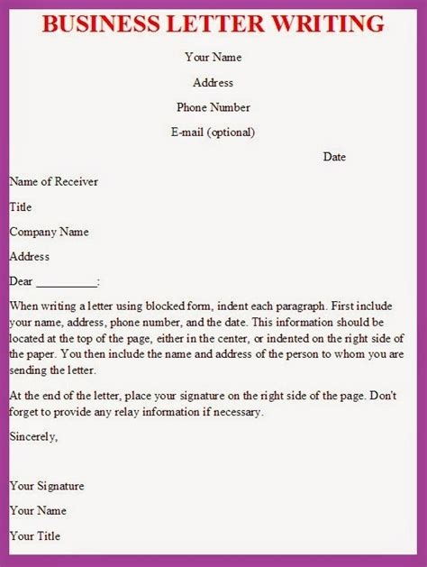 write  effective business letter letters