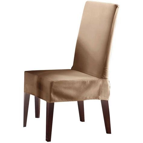 slipcover dining chair sure fit cotton duck dining room chair slipcover