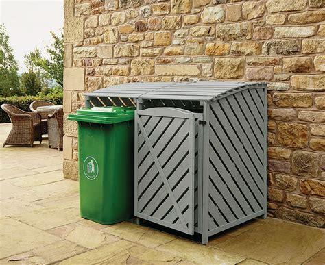 outdoor garbage storage wheelie bin outdoor cover recycling storage 1292