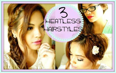 3 Cute, Easy, Heatless Hairstyles!