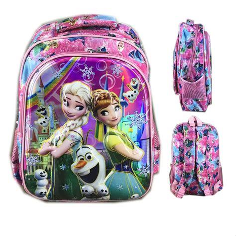 jual dijual tas ransel sekolah anak sd frozen fever 6d pink terunik di lapak lili persada