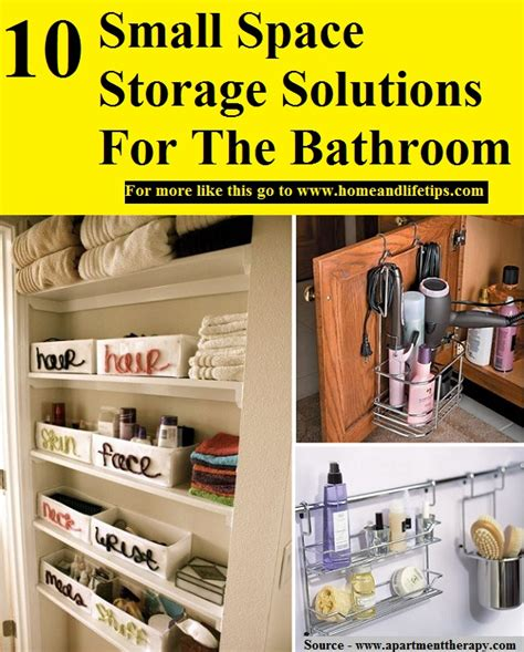 10 Small Space Storage Solutions For The Bathroom HOME