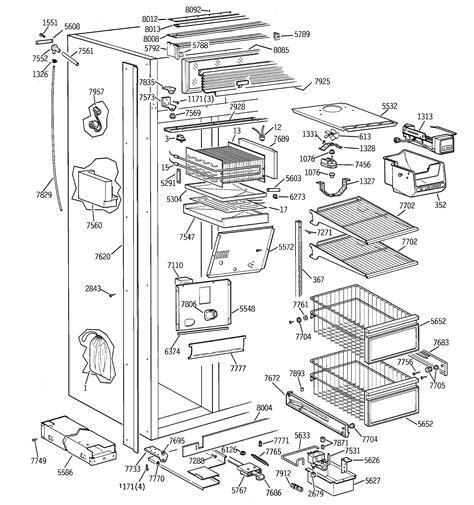 ge zisnsb side  side refrigerator parts sears