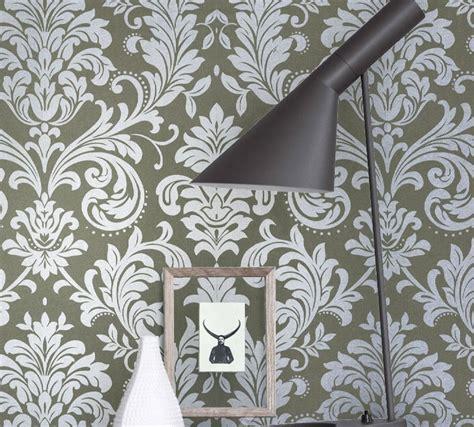 achetez en gros gris papier peint de damass 233 en ligne 224