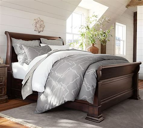 pottery barn bedroom banks bed pottery barn