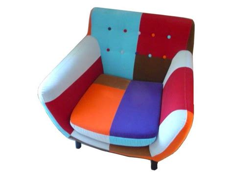 fauteuil patchwork lulea original en tissu assembl 233