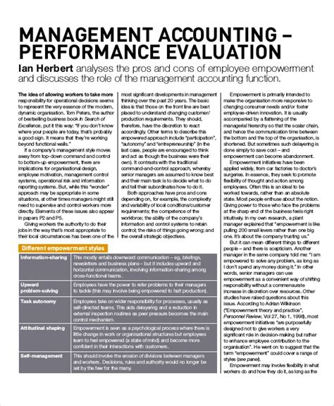 performance evaluation samples  templates