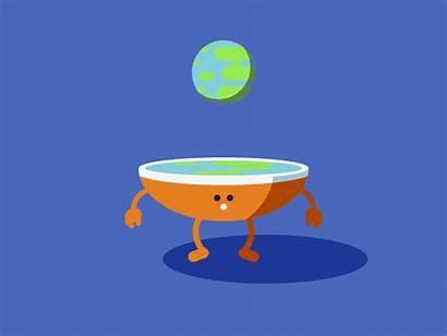 Flat Earth Dribbble Hahahaha Icon