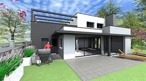 emejing maison moderne cubique pictures lalawgroupus With maison bois toit plat 15 cube 180 hci constructions