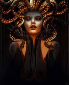 Medusa Gorgon Mythical Creature Greek Gods And