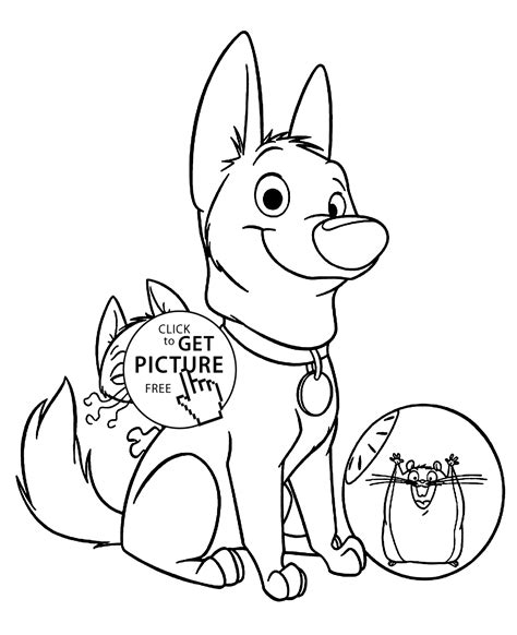 bolt characters coloring pages  kids printable