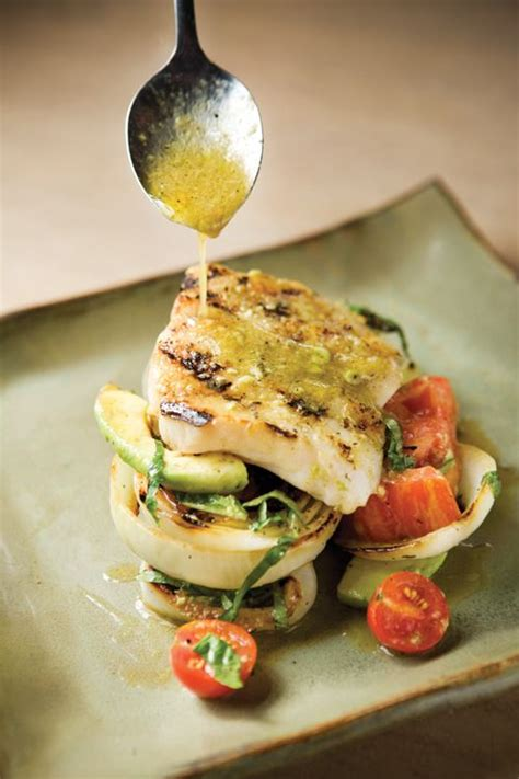 grouper recipes grilled fish onions tomato birminghamhomeandgarden hastings chef chris club foodies dishes food cooking vinaigrette basil avocado lime seafood