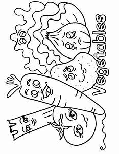Printable vegetables coloring pages for preschoolersFree ...