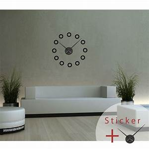 stickers horloges avec ronds ambiance stickercom With carrelage adhesif salle de bain avec lit rond design led