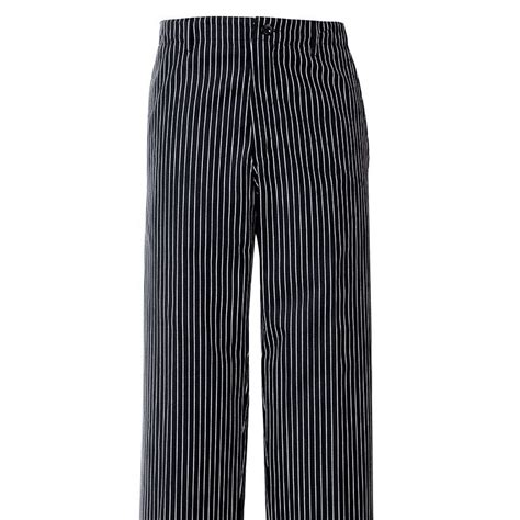 pantalon de cuisine rayures noir blanc 1 poche arrière