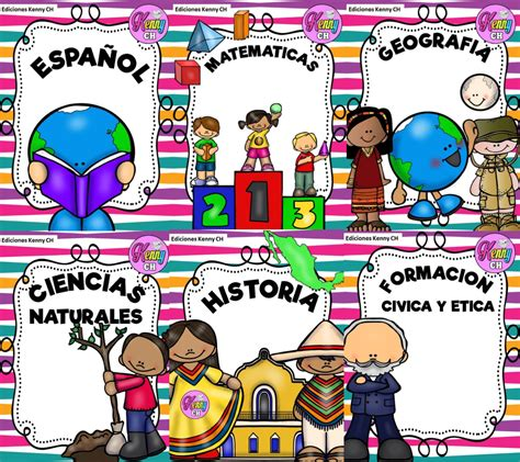 excelentes portadas de materias para primaria educaci 243 n primaria