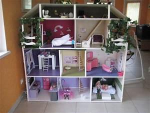Fabrication d39une maison de poupee barbie littlenounie for Beautiful modele de maison en l 8 image maison de barbie