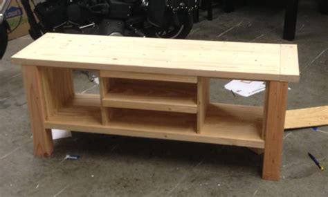 ana white tryde media console  doors diy projects